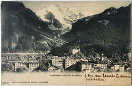 V 52039 Interlaken Und Die Jungfrau ( 1900 ) - BE Berne