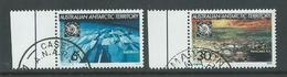 Australian Antarctic Territory 1971 Treaty Set Of 2 FU With Margins & Base Cancels - Used Stamps