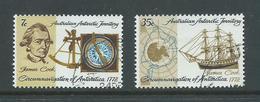 Australian Antarctic Territory 1972 Captain Cook  Anniversary Set 2 FU - Australian Antarctic Territory (AAT)