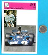 "JOHN YOUNG ""JACKIE"" STEWART - Yugoslavia Vintage Card Svijet Sporta LARGE SIZE Racing Car F-1 F1 Auto Automobile Cars - Automobile - F1"