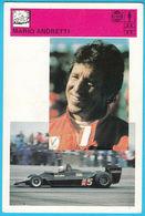 MARIO ANDRETTI Italy & Usa - Yugoslavia Vintage Card Svijet Sporta * LARGE SIZE * Racing Car F-1 F1 Auto Automobile Cars - Automobile - F1