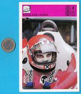 NIKOLAUS NIKI LAUDA Austria - Yugoslavia Vintage Card Svijet Sporta * LARGE SIZE * Racing Car F-1 F1 Cars Osterreich - Automobile - F1