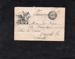 1915 - Correspondance Illustrée - Cachet TRESOR Et POSTES 131 - Au Dos Cachet TROUVILLE Sur MER (Calvados) - Marcofilia (sobres)