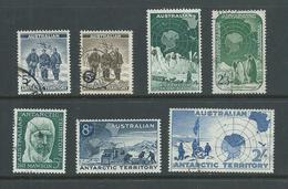 Australian Antarctic Territory 1957 - 1961 Pre Decimals Complete (7) FU - Used Stamps