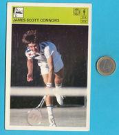 JAMES SCOTT CONNORS - Usa Tennis ... Yugoslavia Vintage Card Svijet Sporta * LARGE SIZE * Tenis Sport - Trading Cards