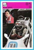 ALAN JONES Australia - Yugoslavia Vintage Card Svijet Sporta * LARGE SIZE * Racing Car F-1 F1 Cars Automobile Auto - Automobile - F1