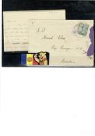 CARTA DE AMOR De BARCELONA ANDORRA CON CENSURA ESPAÑOLA 1945 EN VERSO - Cartes