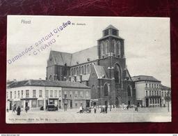 ALOST-----AALST-----cpa Pub--Eglise St.Joseph-animée - Aalst