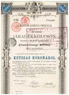 Titre Ancien - A Magyar Korona Orszagal - Royaume De Hongrie - Obligation De La Dette - Titre De 1897- - Actions & Titres