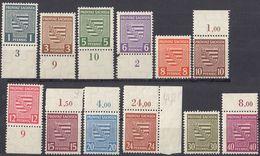 SASSONIA - 1945 - Serie Completa Di 12 Valori MNH: Yvert 8/19, Molti Con Margini Di Foglio, Come Da Immagine. - Zona Soviética