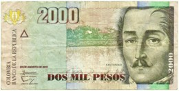 Colombia - 2000 Pesos - 2013.08.28 - Pick 457.u - Santander - Colombie