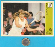 TRACY AUSTIN - Usa Tennis ... Yugoslavia Vintage Card Svijet Sporta * VERY LARGE SIZE * Tenis Sport - Trading Cards