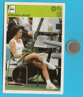 VIRGINIA WADE  - England Tennis Star ... Yugoslavia Vintage Card Svijet Sporta * LARGE SIZE * Tenis Sport British - Trading Cards