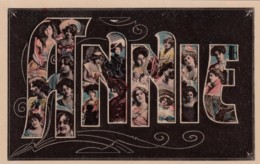 Anne Large Letter Name, Beautiful Women, On C1900s/10s Vintage Postcard - Firstnames