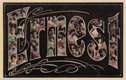 Ernest Large Letter Name, Beautiful Women, On C1900s/10s Vintage Postcard - Firstnames