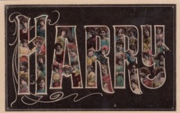 Harry Large Letter Name, Beautiful Women, On C1900s/10s Vintage Postcard - Firstnames
