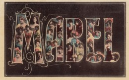 Mabel Large Letter Name, Beautiful Women, On C1900s/10s Vintage Postcard - Firstnames