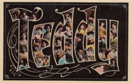 Teddy Large Letter Name, Beautiful Women, On C1900s/10s Vintage Postcard - Firstnames