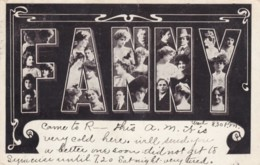 Fanny Large Letter Name, Beautiful Women, On C1900s Vintage Postcard - Firstnames