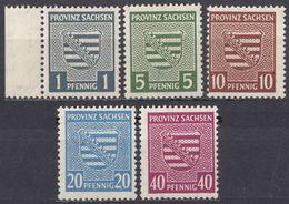 SASSONIA - 1945 - Lotto Di 5 Valori Nuovi MNH: Yvert 8, 10, 13, 16 E 19. - Zona Soviética