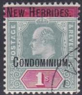 New Hebrides, Scott #9, Used, Edward VII Overprinted, Issued 1908 - English Legend