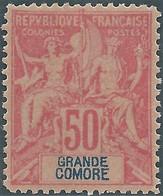 France (old Colonies And Protectorates)1897 Grandi Comore-Inscription GRANDE COMORE,50C Carmine/blue.MNH - Nuovi