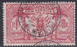 New Hebrides, Scott #18, Used, Idol, Issued 1911 - English Legend