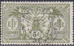 New Hebrides, Scott #21, Used, Idol, Issued 1911 - English Legend