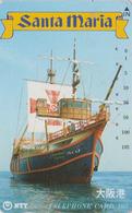 TC Japon / NTT 330-293 B - BATEAU VOILIER ** SANTA MARIA ** - COLUMBUS SAILING SHIP Japan Phonecard - 216 - Bateaux