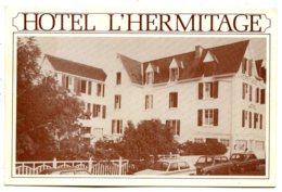 29950 BÉNODET - Carte Publicitaire De L'Hôtel L'Hermitage - Carte Bristol Plié - Bénodet