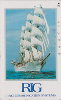 Télécarte Japon / 110-015 - BATEAU VOILIER Caravelle ** RIG ** - SAILING SHIP Japan Phonecard - SCHIFF - 217 - Bateaux