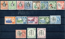 1956 Jamaica VF Used Complete Set Of 16 Stamps To The Pound - Jamaïque (...-1961)