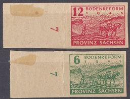 SASSONIA - 1945 - Serie Completa Di 2 Valori Non Linguellati: Yvert 20/21, Con Margini Di Foglio, Come Da Immagine. - Zona Soviética