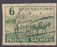 SASSONIA - 1945 - Yvert 20 Usato. - Zona Soviética