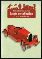 Catalogue De Ventes Des Casernes - Jouets De Collection - 5 E Vente - Oct 2014. - Jouets Anciens