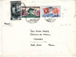 Italie Lettre Pour La France 1951 , Italia - 1946-60: Marcophilie