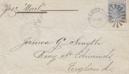 Barbados: 1891: Letter To England - Barbados (1966-...)