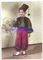 128072 REAL PHOTO COSTUMES DESGUISE CARNIVAL BOY RARE 11 X 15.5 CM NO POSTAL POSTCARD - Fotografie