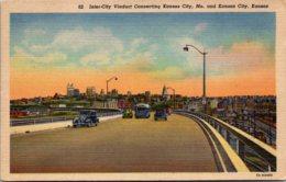 Kansas Kansas City Inter-City Viaduct Curteich - Kansas City – Kansas