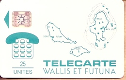 ** < WF1 ¤ Cartes Des Iles - Bleu-vert - SC4ab Ø7 - TTBE - Wallis And Futuna