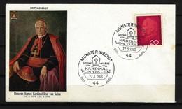 BUND - FDC Mi-Nr. 505 Kardinal Clemens August Graf Galen - BRD