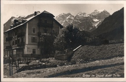 ! 1928 Ansichtskarte Postablagestempel Telfes, P. Fulpmes, Stubaital, Hotel Serles, Tirol,, Österreich - Autriche