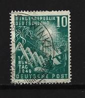 BUND Mi-Nr. 111 Eröffnung Des Ersten Deutschen Bundestages Gestempelt - BRD