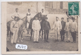 MORTAGNE-SUR-HUISNE- CARTE-PHOTO- VAILLANTS MILITAIRES EN 1909 - Mortagne Au Perche