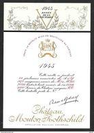 Etiquette De Vin 1945 MOUTON ROTHSCHILD L'Année De La Victoire Gouache De Philippe JULLIAN - Künstlerkarten