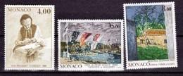 Monaco 1693 1695 1/4 De Cote Tableaux De Cezanne Sisley Florence 1989 Neuf ** TB  MNH Sin Charnela  Cote 13.1 - Impressionismus