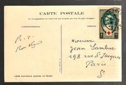 26850 - FONDATION DE LA CROIX ROUGE - Marcophilie (Lettres)