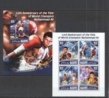 RR892 2014 MALDIVES SPORT BOXING WORLD CHAMPION MUHAMMAD ALI KB+BL MNH - Boxeo