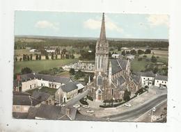 Cp, 35 , BEDEE ,vue Panoramique Aérienne Du Centre , L'église , écrite , Ed. Combier - Autres Communes