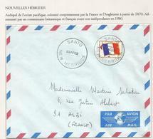 FM DRAPEAU LETTRE SANTO NEW HEBRIDES 29 AP 1969 RARE SUPERBE - Franchigia Militare (francobolli)